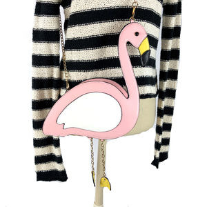 Pink Flamingo Shoulder Bag Handbag Crossbody